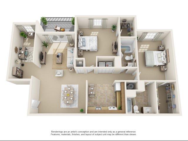 2 bedroom, 2 bathroom apartment Chesapeake, VA