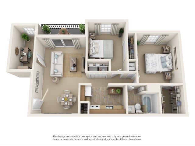 2 bedroom, 1 bathroom apartment Chesapeake, VA