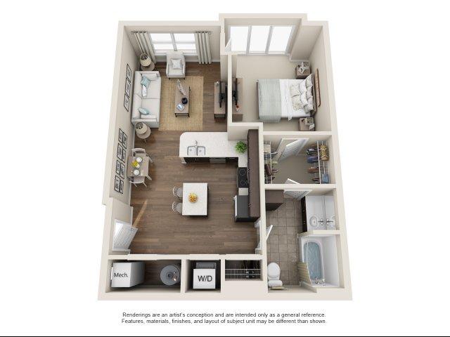 1 br, 1 bath- ADA accessible apartment Chesapeake, VA