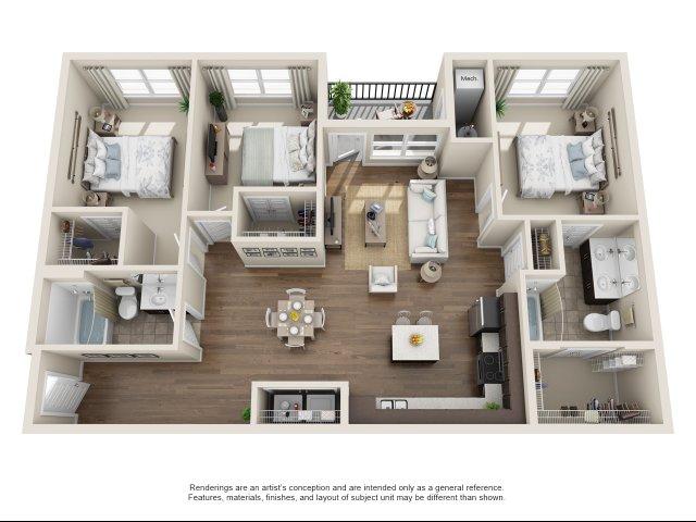 New- 3 Bedroom, 2 Bath- ADA Accessible
