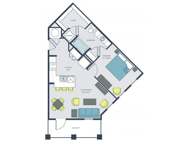 1 bedroom , 1 bathroom - Robb\'s Mill floor plan