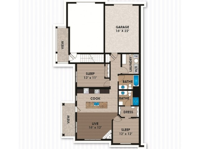 Floor Plan D1 | Bergamont Townhomes | Apartments in Oregon, WI