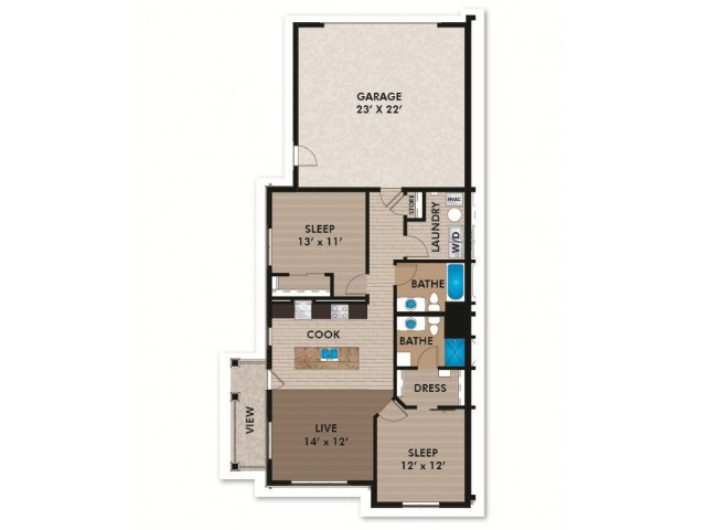Floor Plan D3 | Bergamont Townhomes | Apartments in Oregon, WI