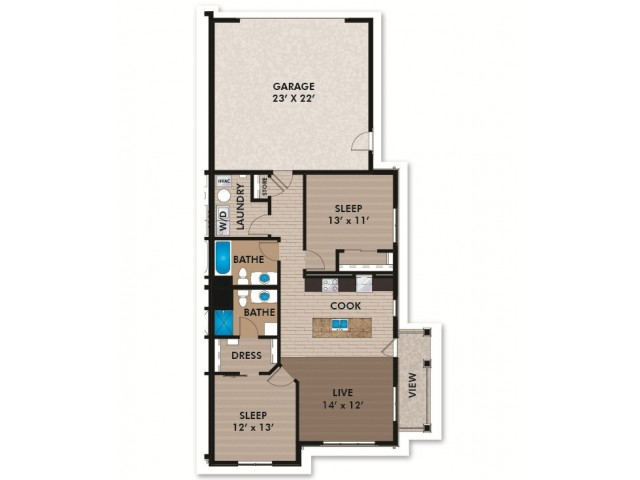Floor Plan D4 | Bergamont Townhomes | Apartments in Oregon, WI