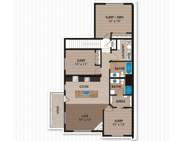 Floor Plan E1 | Bergamont Townhomes | Apartments in Oregon, WI