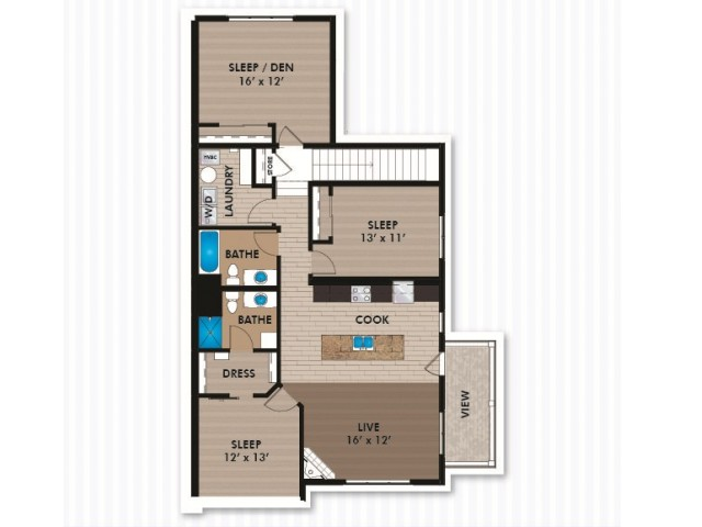 Floor Plan E2 | Bergamont Townhomes | Apartments in Oregon, WI