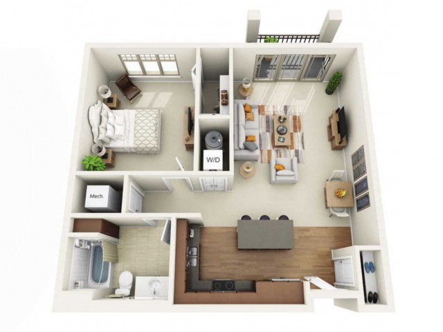 Floor Plan 1C | Wells Street Station | Apartments in Delafield, WI