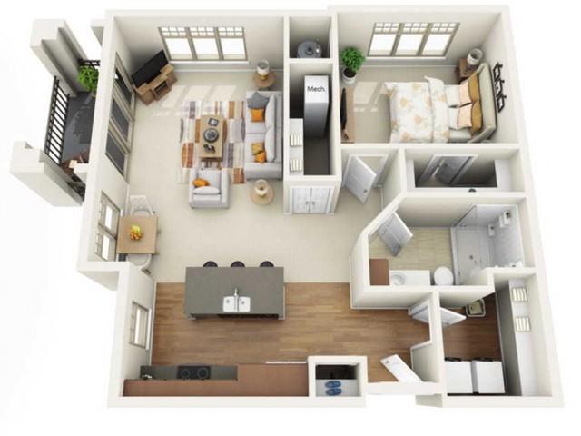 Floor Plan 1D | Wells Street Station | Apartments in Delafield, WI