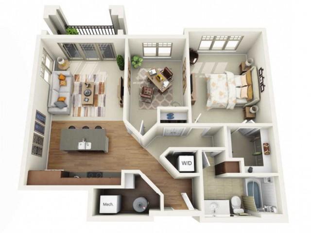 Floor Plan 1F | Wells Street Station | Apartments in Delafield, WI