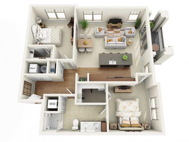 Floor Plan 2D | Wells Street Station | Apartments in Delafield, WI