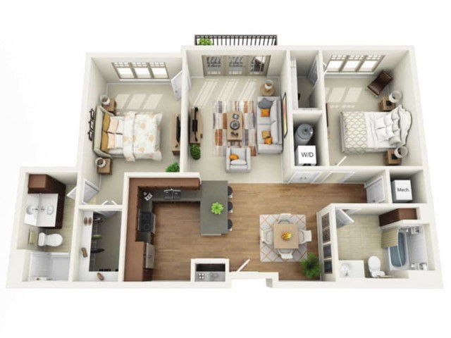 Floor Plan 2I | Wells Street Station | Apartments in Delafield, WI