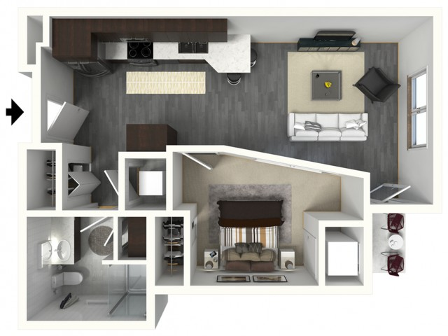 Floor Plan A4.1 | Synergy at the Mayfair Collection | Apartments in Wauwatosa, WI