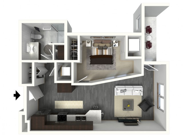 Floor Plan A4 | Synergy at the Mayfair Collection | Apartments in Wauwatosa, WI