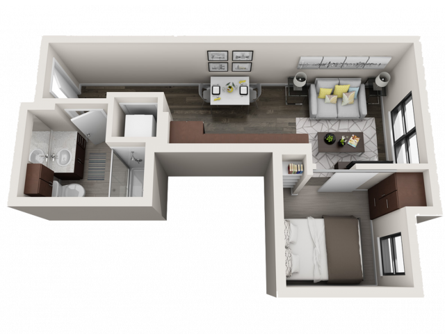 Floor Plan A1 | Synergy at the Mayfair Collection | Apartments in Wauwatosa, WI