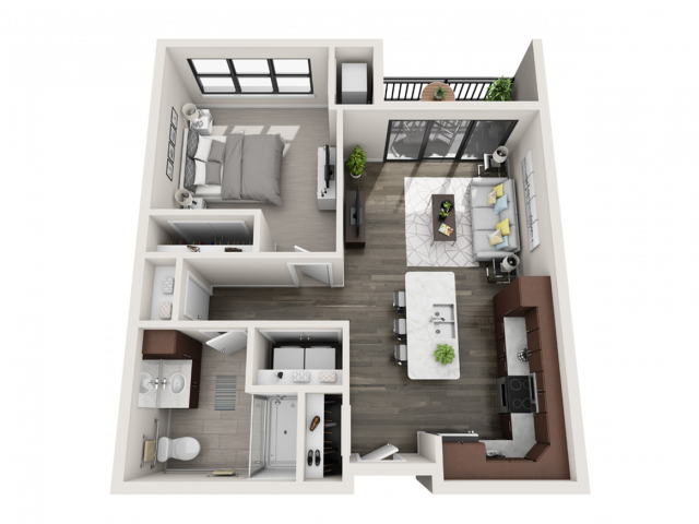 Floor Plan B3.2A | Synergy at the Mayfair Collection | Apartments in Wauwatosa, WI