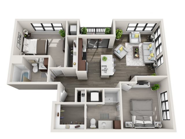 Floor Plan D1 | Synergy at the Mayfair Collection | Apartments in Wauwatosa, WI
