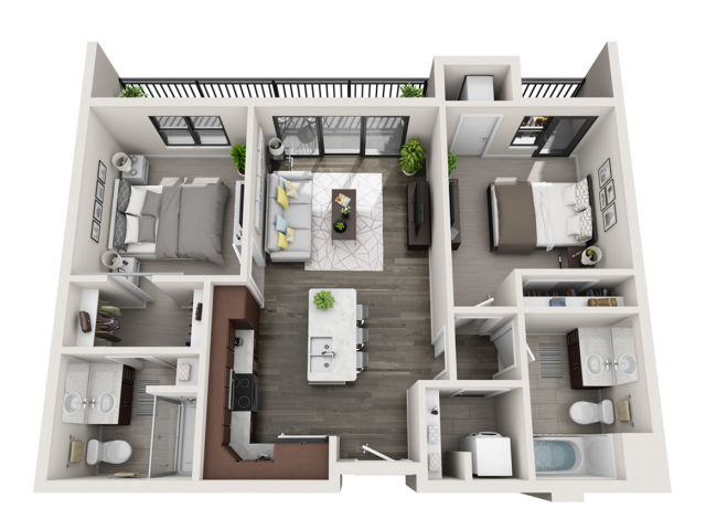 Floor Plan D6 | Synergy at the Mayfair Collection | Apartments in Wauwatosa, WI