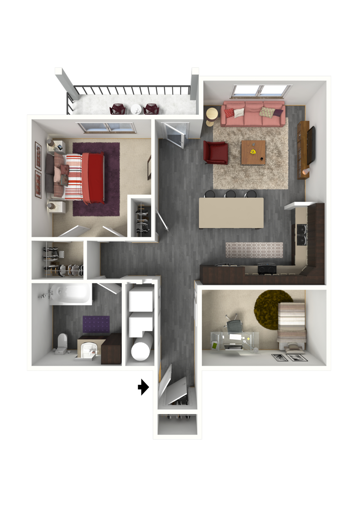 Floor Plan FC1 | 1 Glenn Place | Apartments in Fitchburg, WI