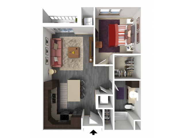 Floor Plan B2 | 1 Glenn Place | Apartments in Fitchburg, WI