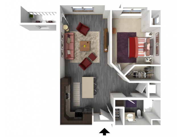 Floor Plan B6 | 1 Glenn Place | Apartments in Fitchburg, WI