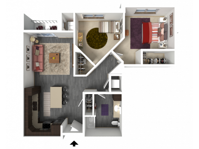 Floor Plan C2   1 Glenn Place   Apartments in Fitchburg, WI