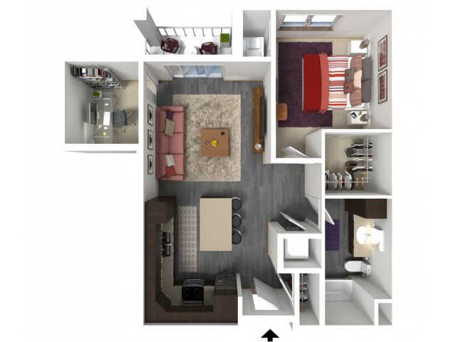 Floor Plan C4   1 Glenn Place   Apartments in Fitchburg, WI