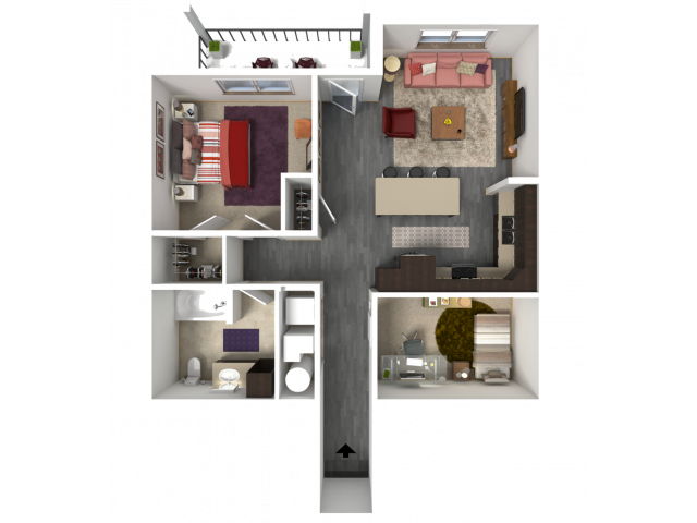 Floor Plan FC4 | 1 Glenn Place | Apartments in Fitchburg, WI