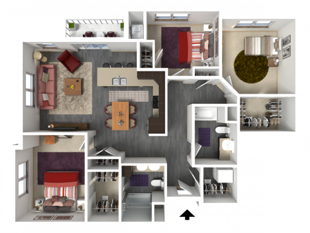 Floor Plan E1 | 1 Glenn Place | Apartments in Fitchburg, WI