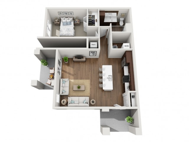 Floor Plan 1D | Seasons at Orchard Hills | Apartments in Oak Creek, WI