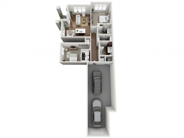 Floor Plan 2A | Seasons at Orchard Hills | Apartments in Oak Creek, WI