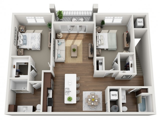 Floor Plan 2D | Seasons at Orchard Hills | Apartments in Oak Creek, WI