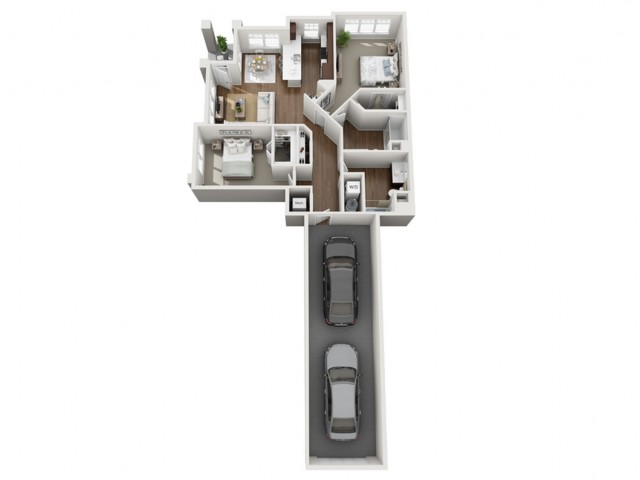 Floor Plan 2G | Seasons at Orchard Hills | Apartments in Oak Creek, WI