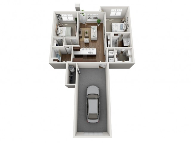 Floor Plan 2H | Seasons at Orchard Hills | Apartments in Oak Creek, WI