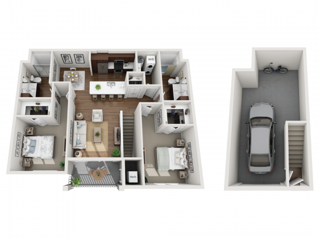 Floor Plan 2E | Seasons at Orchard Hills | Apartments in Oak Creek, WI