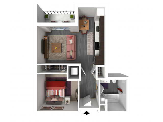 Floor Plan A2   Forte at 84 South   Apartments in Greenfield, WI