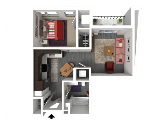 Floor Plan A3   Forte at 84 South   Apartments in Greenfield, WI