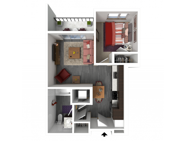 Floor Plan A4   Forte at 84 South   Apartments in Greenfield, WI