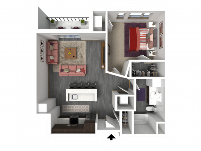 Floor Plan B3   Forte at 84 South   Apartments in Greenfield, WI