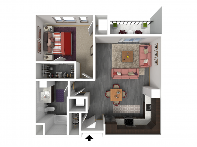 Floor Plan B4   Forte at 84 South   Apartments in Greenfield, WI