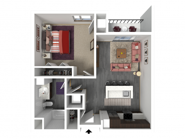 Floor Plan B6   Forte at 84 South   Apartments in Greenfield, WI