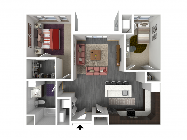 Floor Plan C2   Forte at 84 South   Apartments in Greenfield, WI