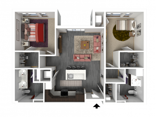 Floor Plan D1   Forte at 84 South   Apartments in Greenfield, WI