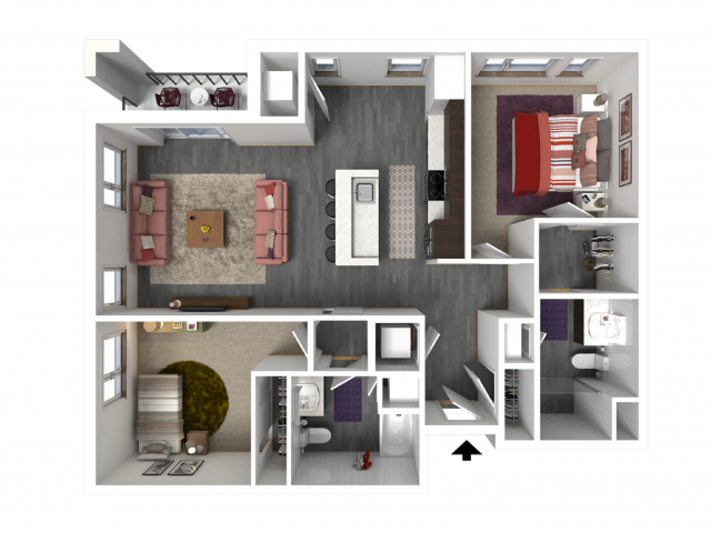 Floor Plan D3   Forte at 84 South   Apartments in Greenfield, WI
