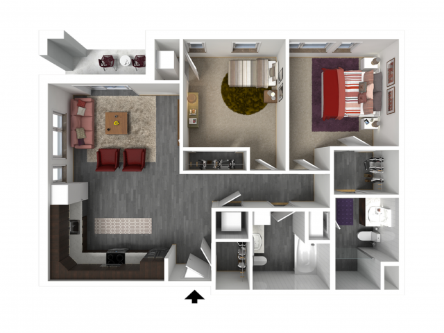 Floor Plan D5   Forte at 84 South   Apartments in Greenfield, WI