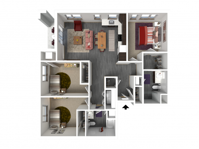 Floor Plan E1   Forte at 84 South   Apartments in Greenfield, WI