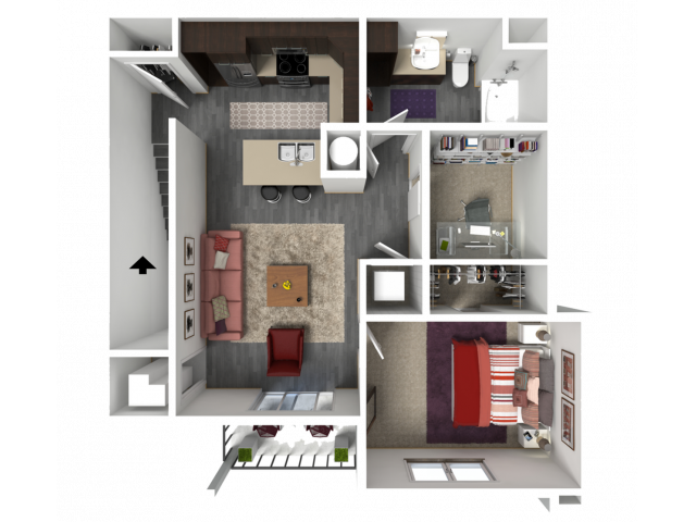 Floor Plan FC3   1 Glenn Place   Apartments in Fitchburg, WI