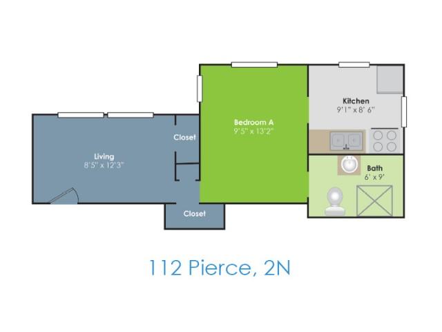Floor Plan B | Apartments in Lafayette IN | Collegiate Communities