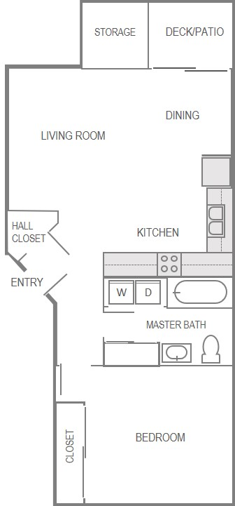 Nantucket Gate Apartment Layout- 1 Bedroom