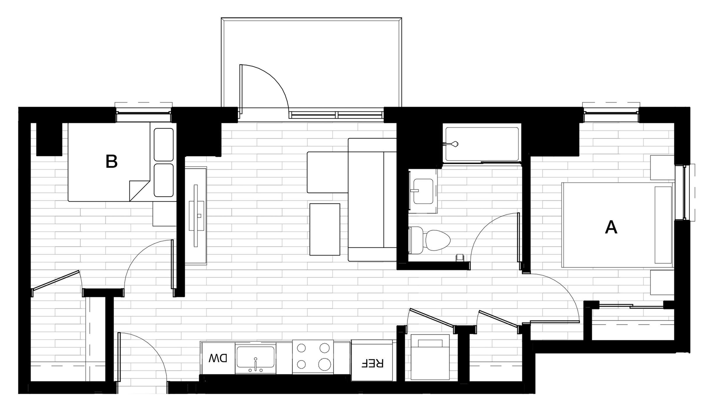 2X1 A - Balcony