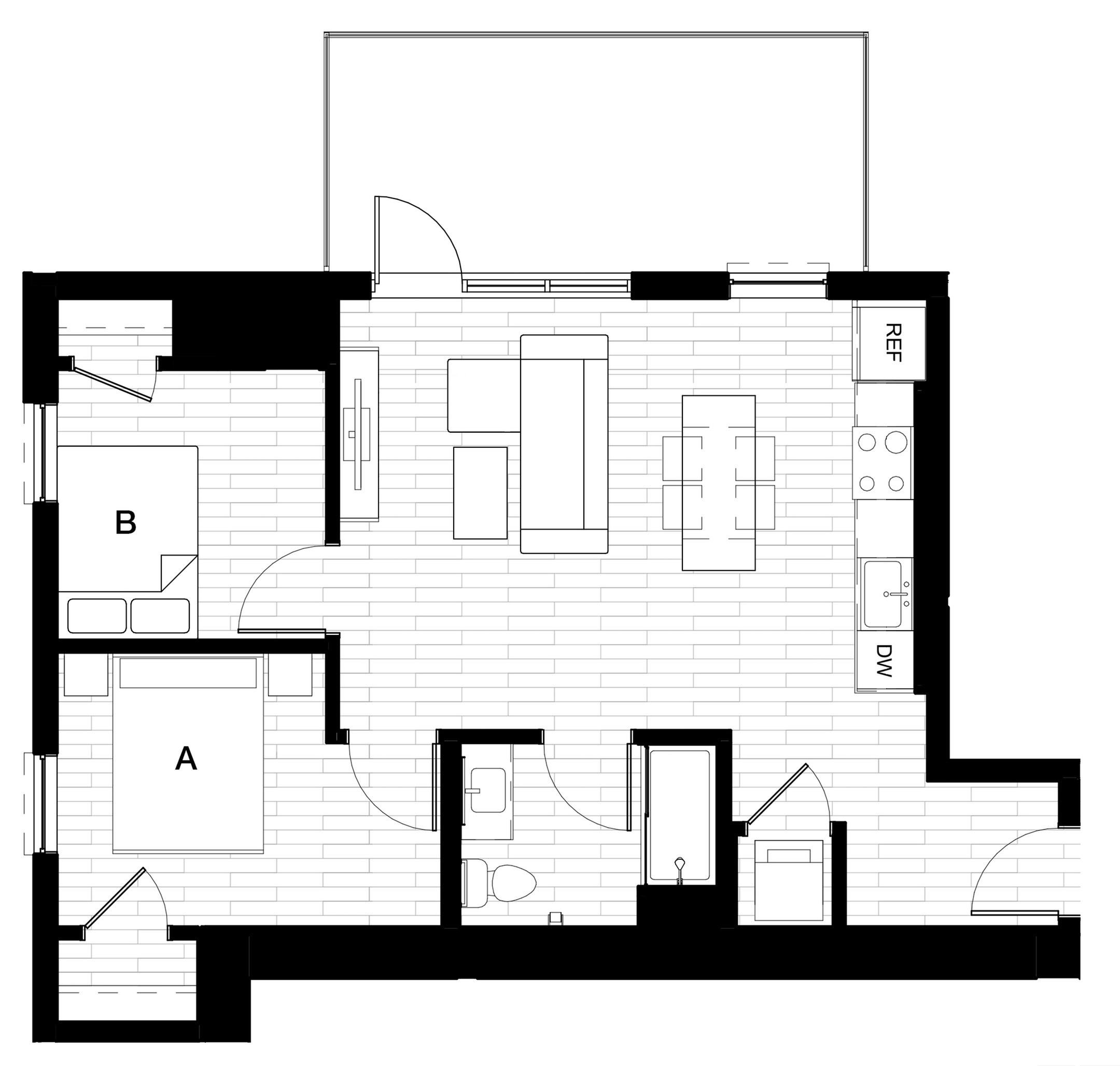 2x1 C - Balcony